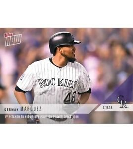 2018-Topps-NOW-MLB-449-COLORADO-ROCKIES-German-Marquez-RARE-ONLY-188-MADE