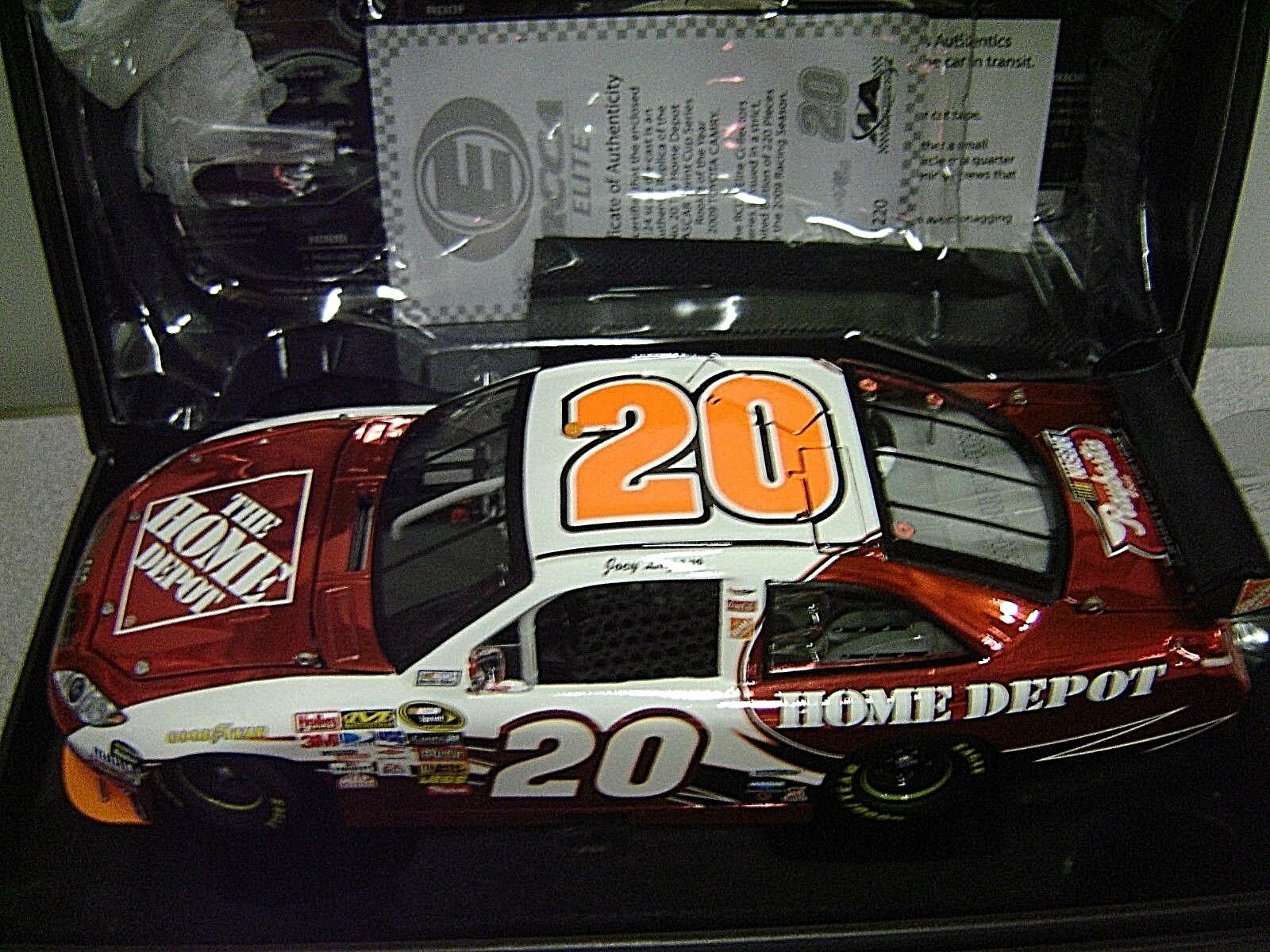 RARE   2009 JOEY LOGANO HOME DEPOT ROOKIE OF THE YEAR COLOR CHROME ELITE 1 24