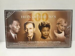 100-HITS-OF-THE-50-039-S-4-CD-Set-Time-Music-NEW-SEALED-Nat-King-Cole-Bing-Ella