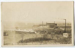1912-American-Cement-Plaster-Mill-Blue-Rapids-Kansas-real-photo-postcard-RPPC