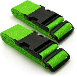 Green-Long-Travel-Luggage-Straps-Adjustable-Suitcase-Safety-Buckle-Belts-1-Pair