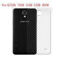 New Back Rear Carbon Fiber Screen Protector Film Cover Guard for Samsung Phones
