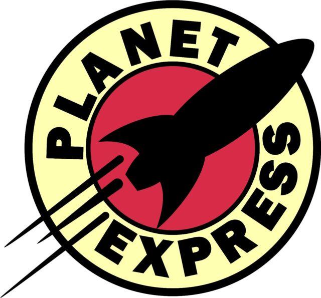 Planet express logo sticker vinyl decal futurama 4 stickers