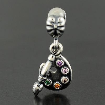 Authentic Genuine Pandora Sterling Silver Artist's Palette Charm - 791268CZMX