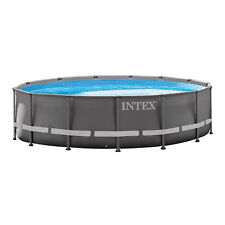 "Intex 14' x 42"" Ultra Frame Above Ground Swimming Pool Set with Ladder & Pump"