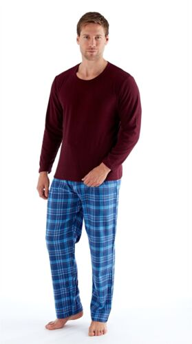 Mens Boys Fleece//Flannel Long Sleeve Pyjama Set Pyjamas PJs Medium Large XL XXL