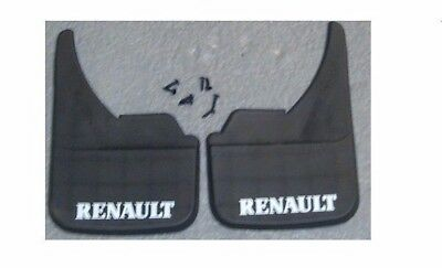 4x WIDE Rubber Mud Flaps FRONT /& REAR Mudflaps Universal Fits Renault Master Van