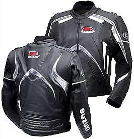 SUZUKI-GSXR-Sports-Cuir-Veste-Moto-Cuir-Veste-Hommes-Cuir-Biker-Veste-EU-54-60