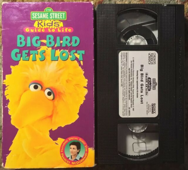 """Sesame Street Kids' Guide To Life: Big Bird Gets Lost"" VHS (LV 49373)"