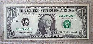 1995-UNA-Dolar-ESTRELLA-BILLETE-CIRC-MONEDA-7535-Federal-Reserva-BILLETE