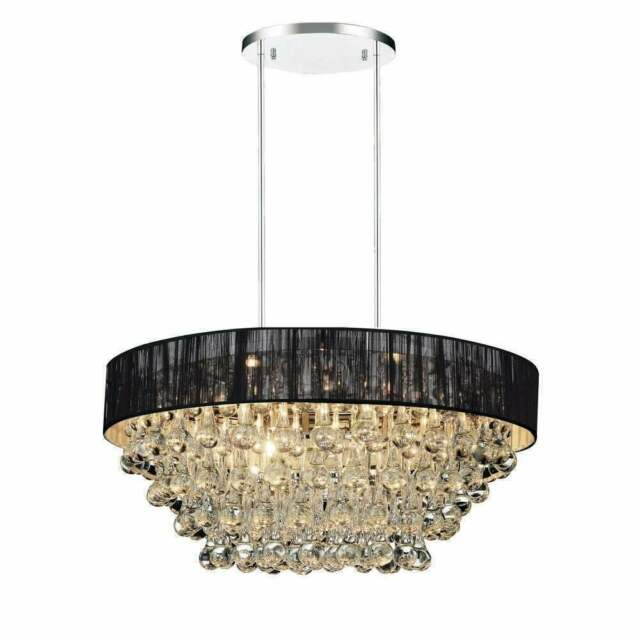Silver Kitchen Island Light Fixtures with LED Bulbs LL-CH5-1836-1SIL Sonoro Large Rectangular 12 Light Dining Room Industrial Chandelier
