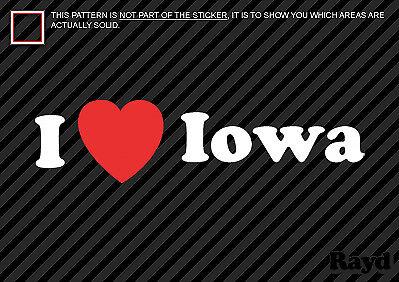 I Love Iowa Sticker Decal Die-Cut Vinyl 2