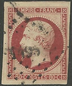France-1862-Napoleon-80c-Lake-Scott-19-F-VF-Used-CV-82-50