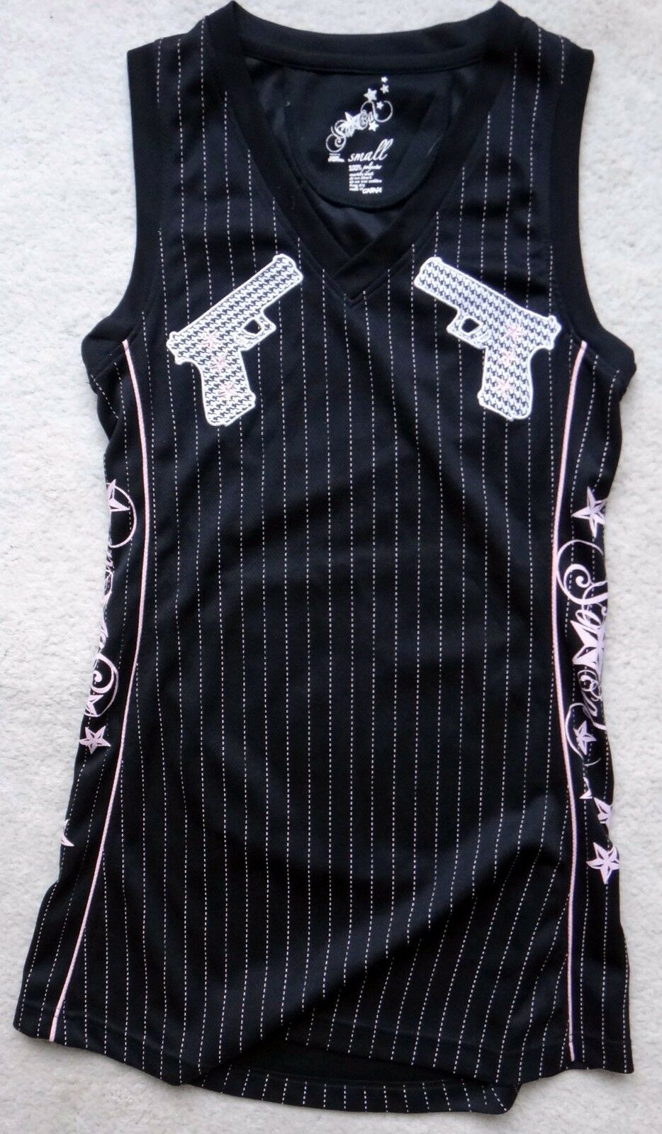 Socal WEST coast rap rap rap gangster los angeles gun pink patch baretta jersey patch b4afb5