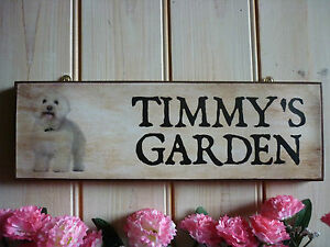 PERSONALISED-BICHON-FRISE-SIGN-HOUSE-PLAQUE-GATE-SIGN-WEATHERPROOF-BICHON-GIFTS