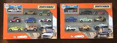 Matchbox 9-Pack W//Exclusive Black Datsun 510 Bluebird Rally