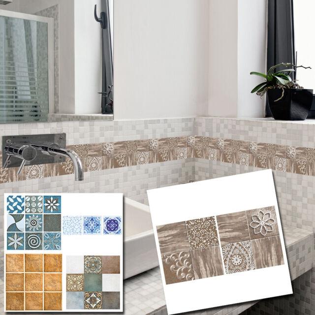 18pcs Mosaic Self-adhesive Bathroom Kitchen Decor Home Wall Tile Sticker Pack
