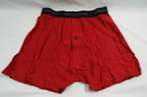 1 Uomo Duluth Trading Co Buck Naked Performance Boxer 67019 In Rosso Risparmia Il 50-70%