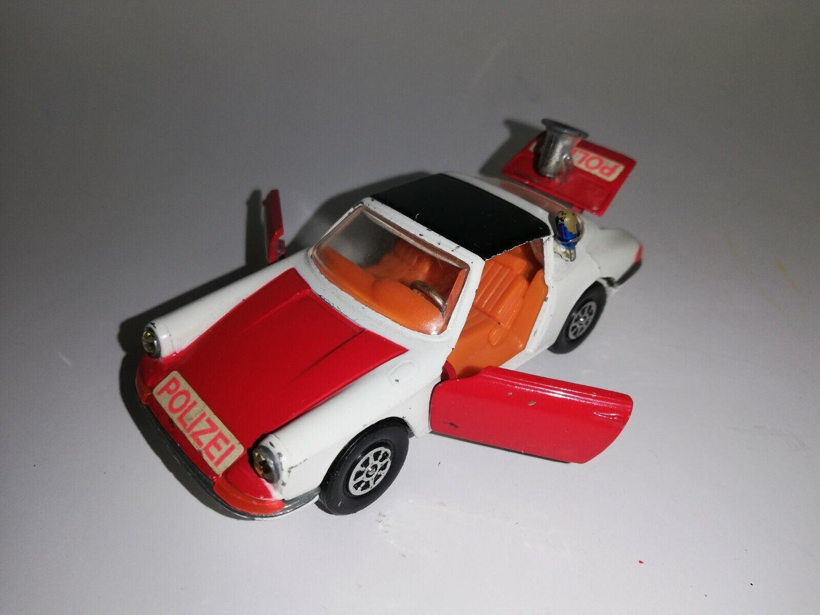 CORGI TOYS Porsche 911S TARGA - POLIZEI POLICE - White 1 43 RARE - SEHR GUT