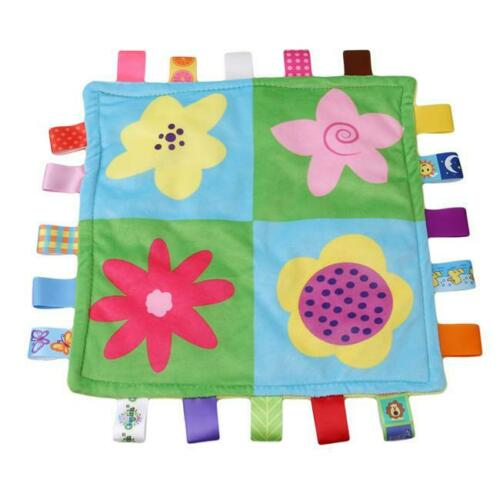Baby Comforter Taggy Blanket SUPER SOFT Security Snuggle Blanket S3