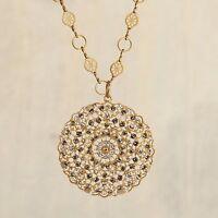 La Vie Parisienne/popesco Gold Crystal Medallion Pendant Necklace 1120bg