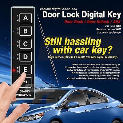 Touch Digital Smart Key Door Lock Unlock AUX Relay Kit Keyless For All  Vehicle 8809510771026   eBay