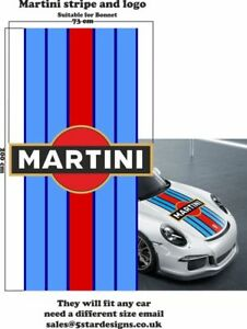Le-Mans-Martini-Racing-style-Stripe-and-Logo-Porsche-911-Sticker-decal-A648LL