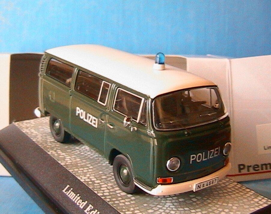 VOLKSWAGEN VW T2A BUS POLIZEI PREMIUM CLASSIXXS 11306 1 43 VITRE POLICE GERMANY