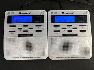 2 PAIR Midland Weather Radio WR-100 Vers. 4&5 Public Alert NOAA Emergency Tested