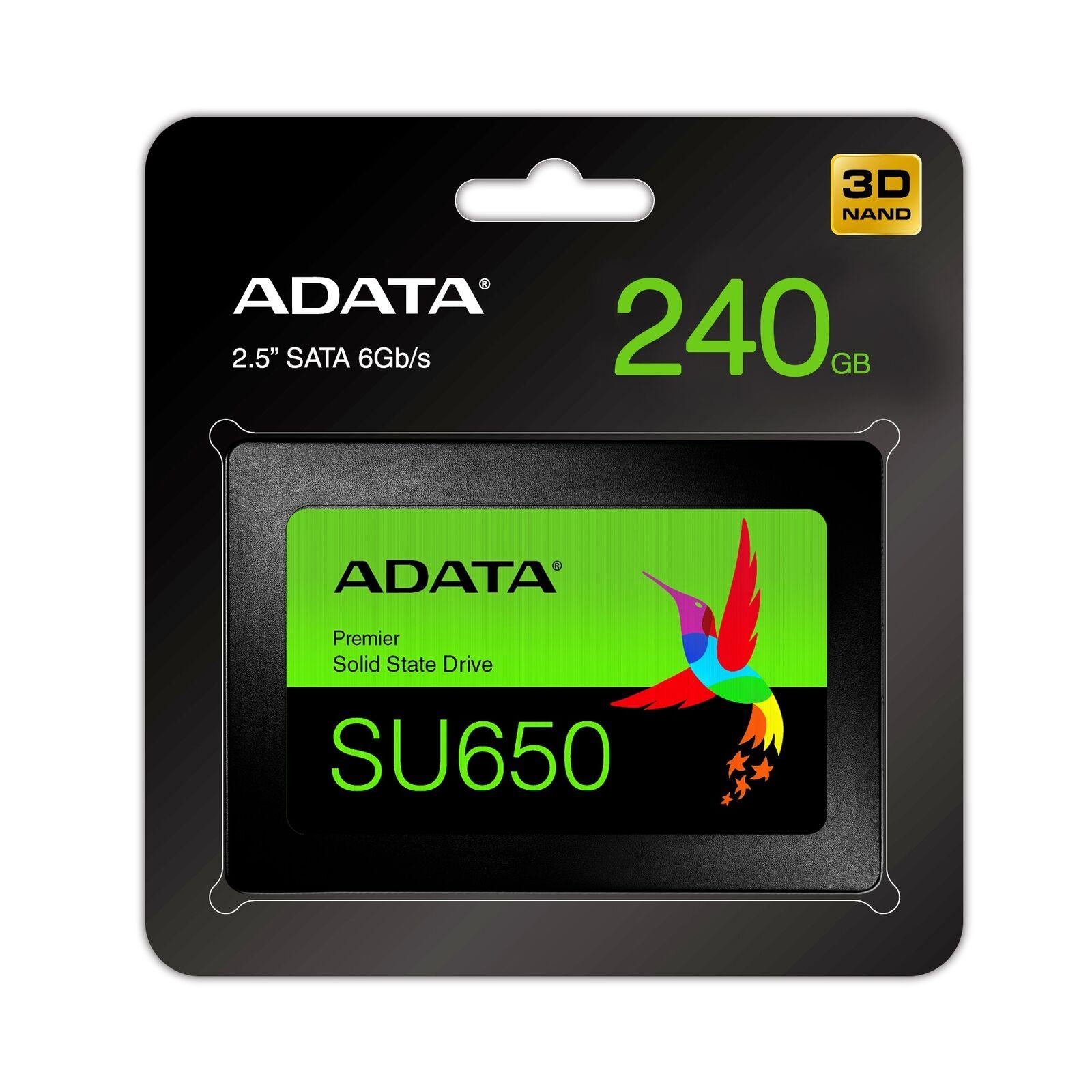 ADATA Ultimate SU650 240GB SATA III Internal, 2 5 inch (ASU650SS240GTC)  Solid State Drive