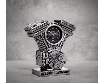 Harley Davidson 99202-17V Resin V Twin Engine Clock Christmas Gift 5x8 1/2 x 3""