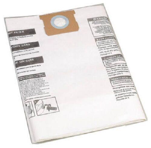 5 SHOP-VAC 90662-19 2pk 10-14 Gal DISPOSABLE VACUUM BAG