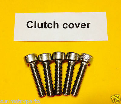 80cc  Motorized Bicycle stainless steel clutch cover screw set