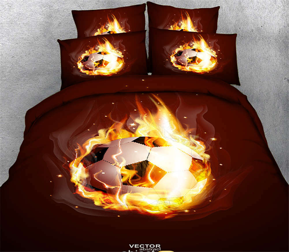 Burning Youth 3D Printing Duvet Quilt Doona Covers Pillow Case Bedding Sets