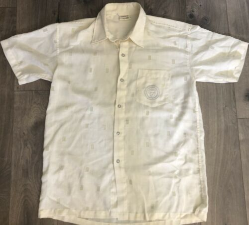 Versace DN Vtg Mens Button Shirt XXXL Short Sleeve
