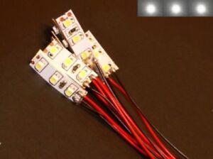 S pezzi mini led illuminazione casa con cavo bianco v