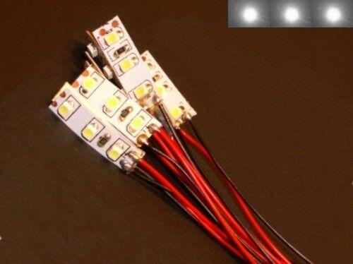 S007-10 pezzi Mini LED Illuminazione Casa con Cavo Bianco 8-16v per case