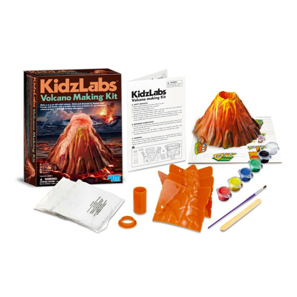 a classic model volcano for science I'm sure that your kids will love this new twist on the classic exploding volcano science experiment it's so realistic that you shouldn't be surprised if your kids play that some of their toys are villagers running from the lava.