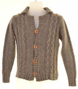 Scotch & Soda Herren Cardigan Sweater Small Grau Lambswool ml02