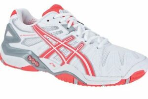 Womens asics Gel Resolution 5 Tennis Court Shoes Trainers Size UK 9 ... 1c832eb0c87