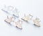 Ohrstecker-Damen-Vogel-Origami-Kranich-Ohrringe-Gold-Filigran-Minimal-Statement Indexbild 1