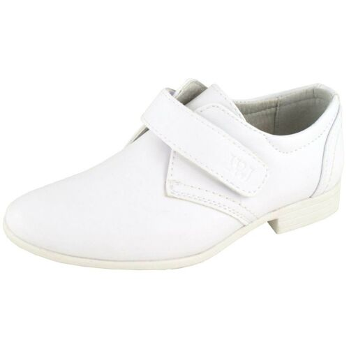 NEW BOYS KIDS WHITE LEATHER LINED COMMUNION WEDDING PARTY SUIT FORMAL SHOES SIZE