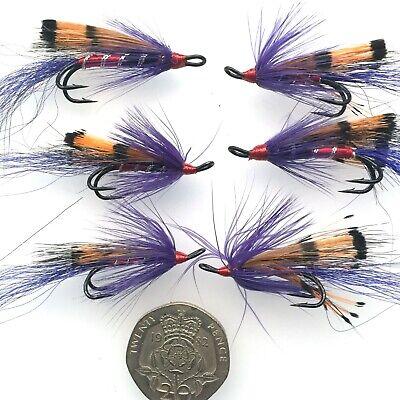 6  SKUNK SIZE  8 SALMON FLY FISHING FLIES   LIGAS