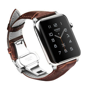 Genuine Leather Strap Bands For Apple Watch Series 3 Series 2 Series 1 42mm Ebay