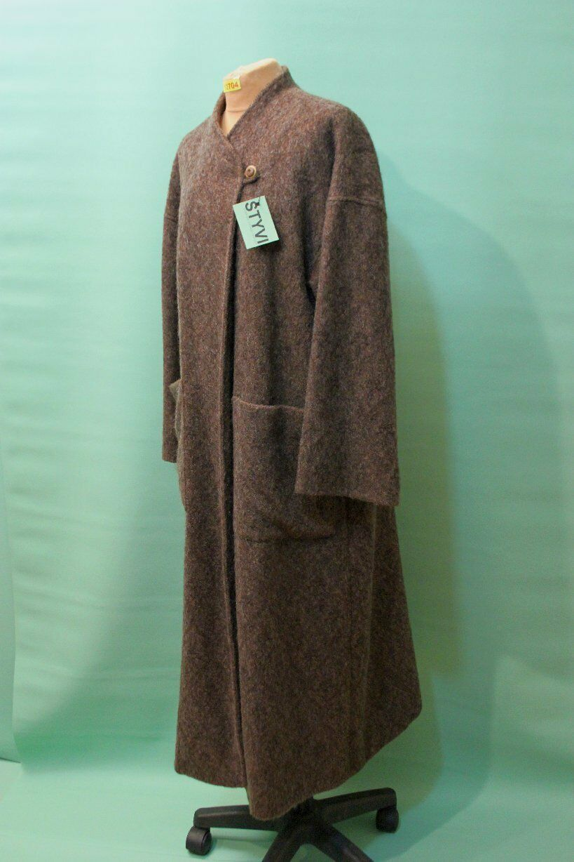 Orig Armand Ventilo Woll Mantel Gr 36 S Mohair Leinen Kimono  brown