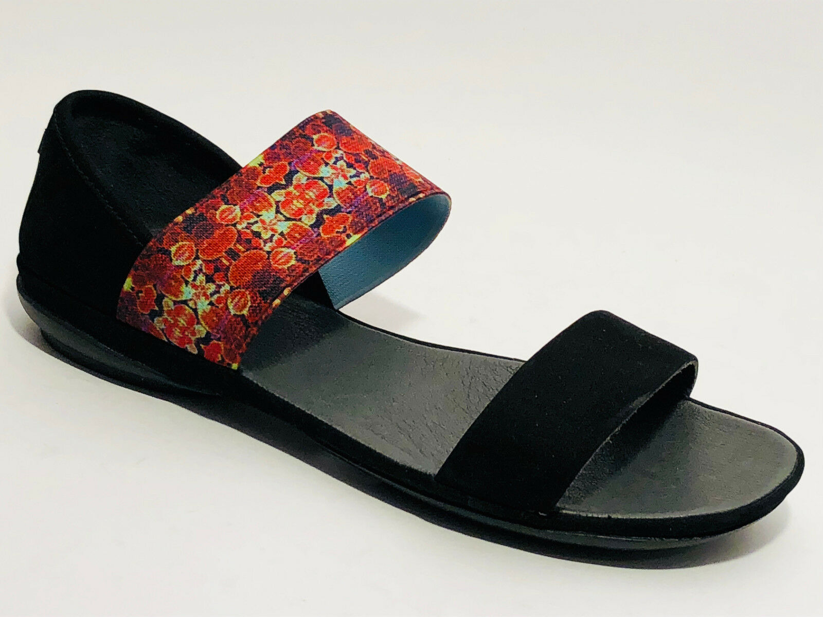 Camper Schuhe Nubuk Leder Sandalen Größe 37 (UK 4) schwarz Rist Gummi Camper