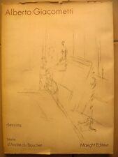 Alberto Giacometti Dessins 1914- 1965 in folio  Texte A Boucher Maeght editeur