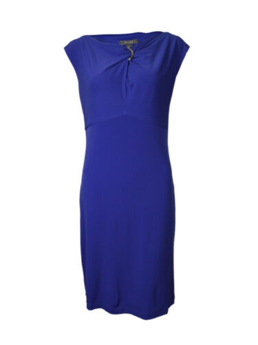 Muse Women/'s Metal Detailed Matte Jersey Dress