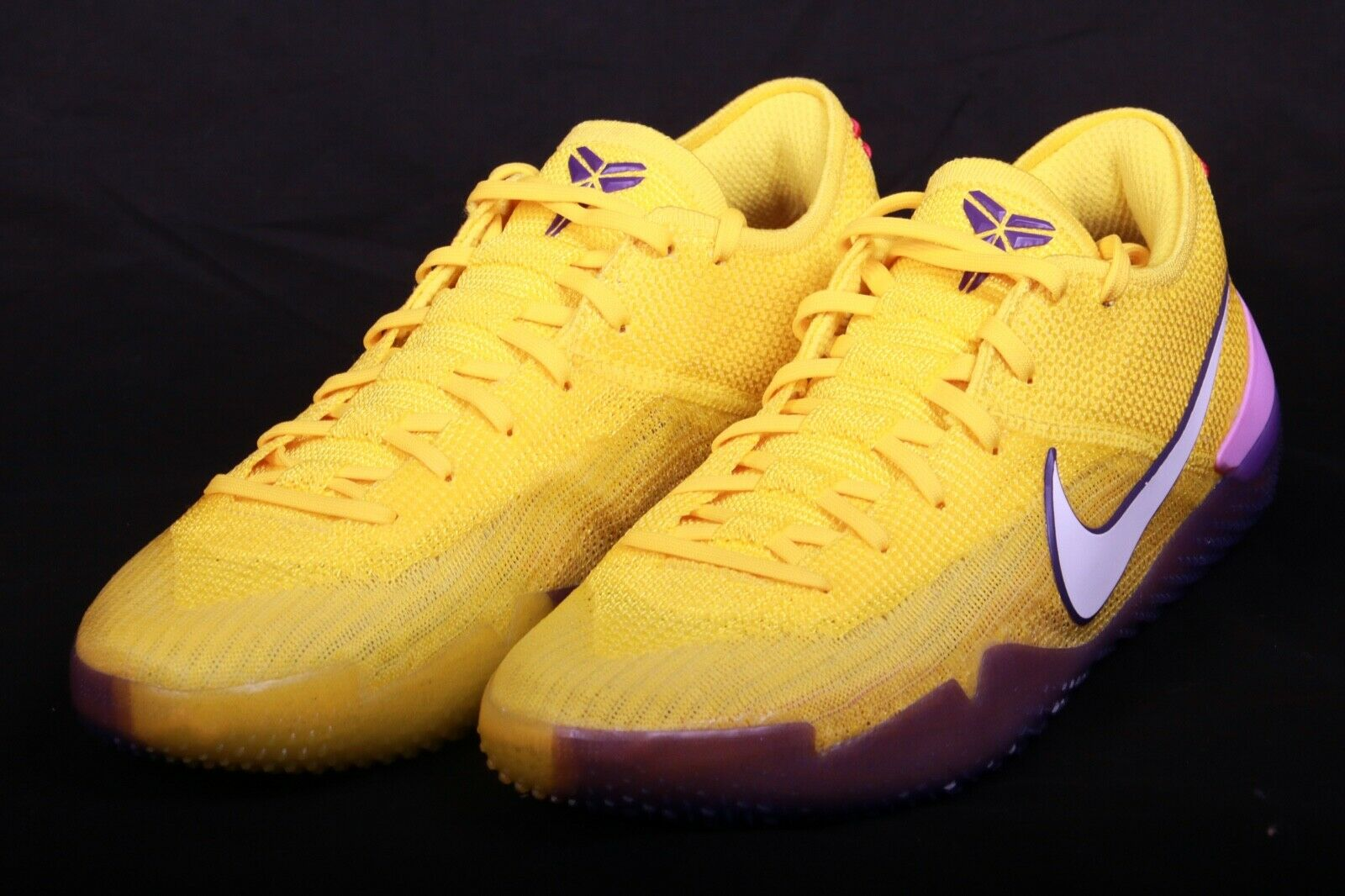 Nike Men's Kobe AD NXT 360 Yellow QS Strike Mamba Lakers AQ1087 700 Sz 7.5-15