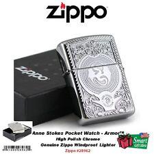 Zippo Anne Stokes Pocketwatch, Armor™ Lighter, High Polish Chrome #28962